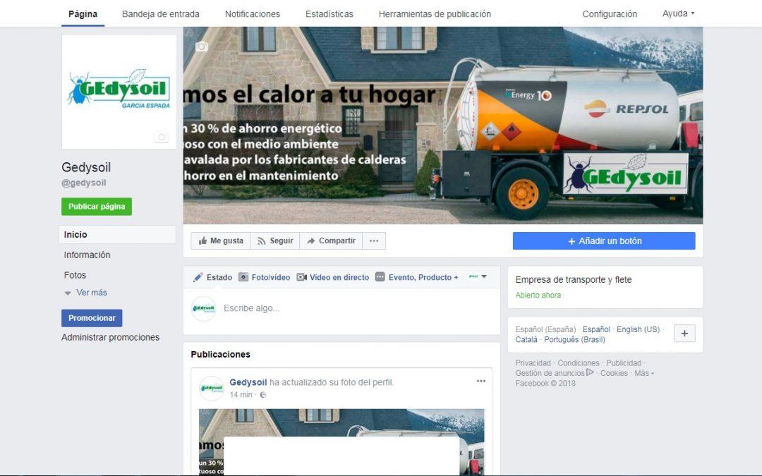 Gedysoil presente en Facebook